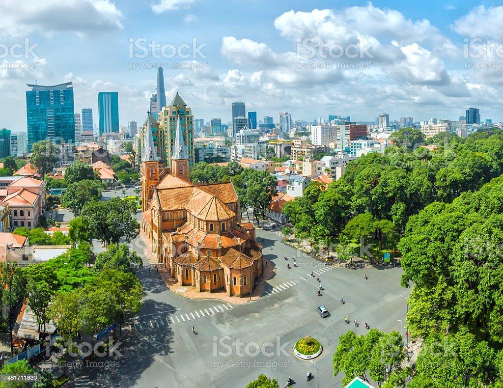 Ho Chi Minh City sunny day stock photo