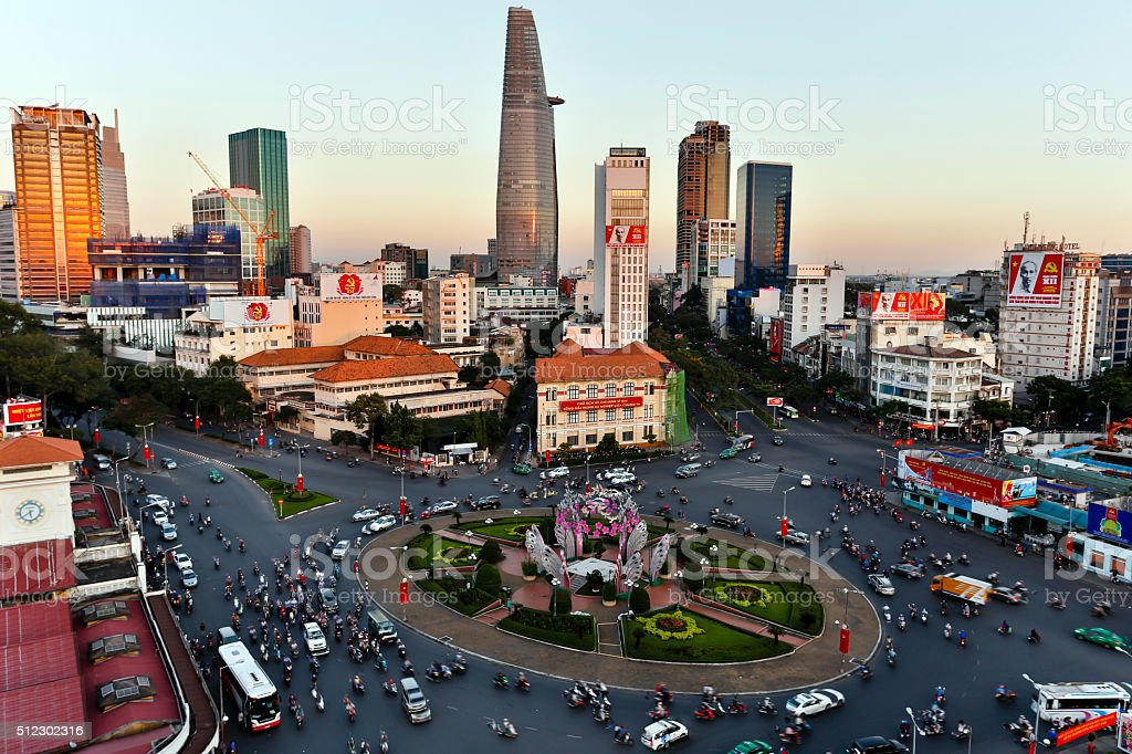 Ho Chi Minh City Vietnam Skyline stock photo