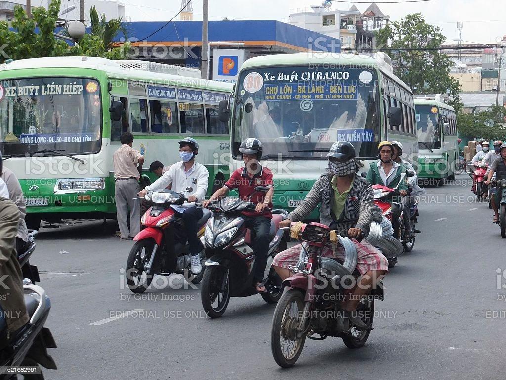 Ho Chi Minh (antigua de Saigón) en Vietnam foto de stock libre de derechos