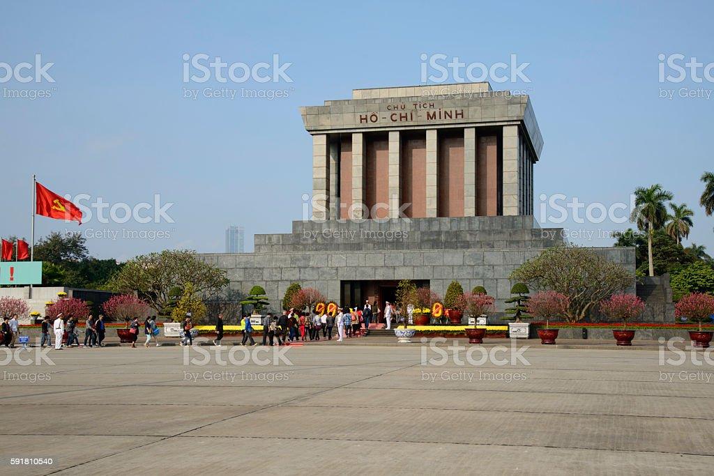 Ho Chi Minh Mausoleum - Hanoi, Vietnam royalty-free stock photo
