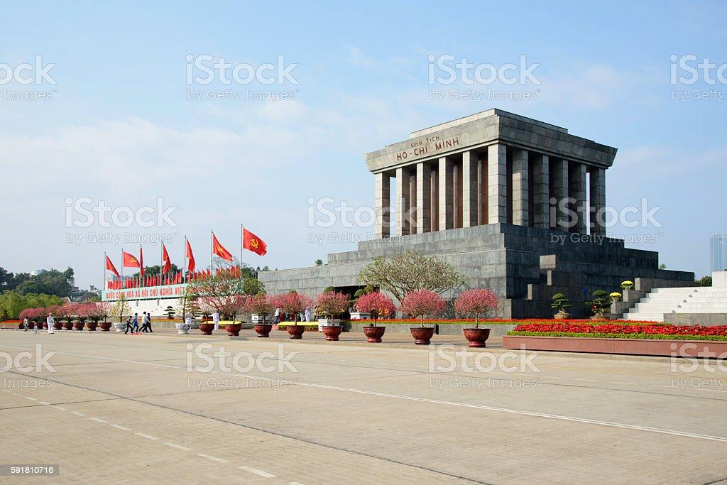 Ho Chi Minh Mausoleum , Hanoi, Vietnam royalty-free stock photo