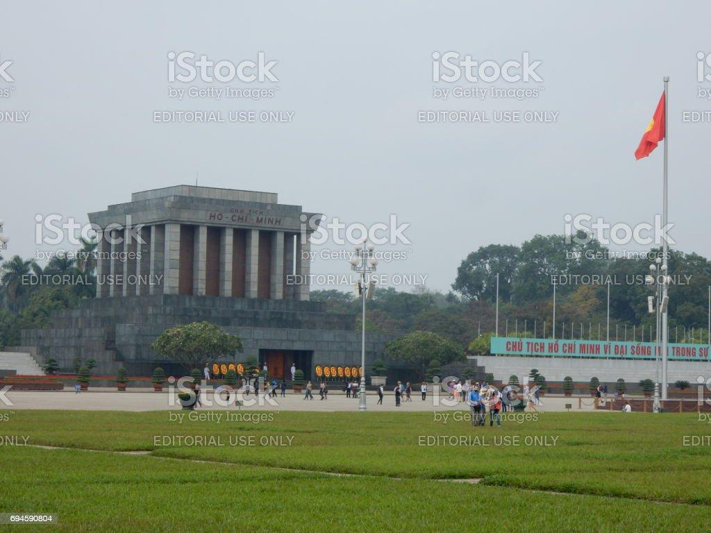Ho Chi Minh mausoleum, Hanoi, Vietnam stock photo