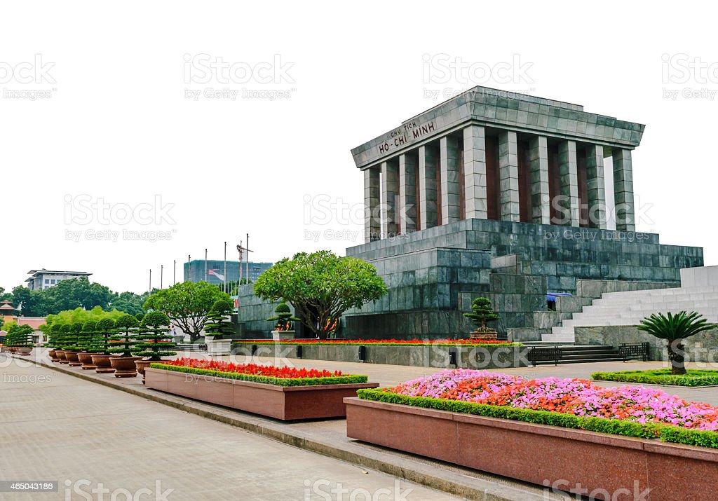 Ho chi minh Mausoleum in Hanoi, Vietnam stock photo