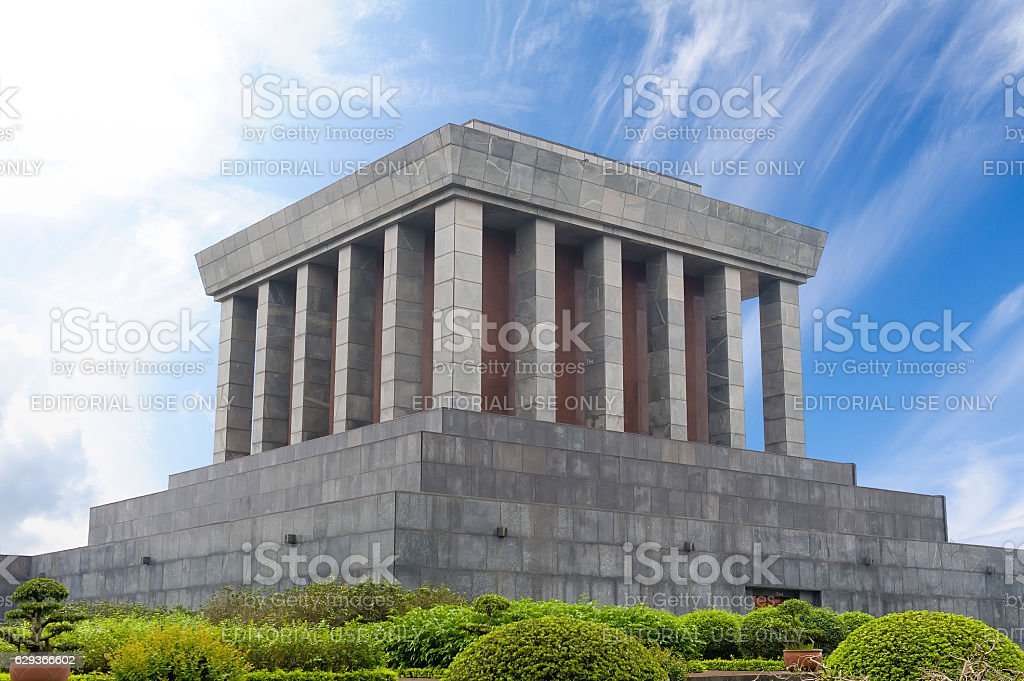 Ho Chi Minh Mausoleum stock photo