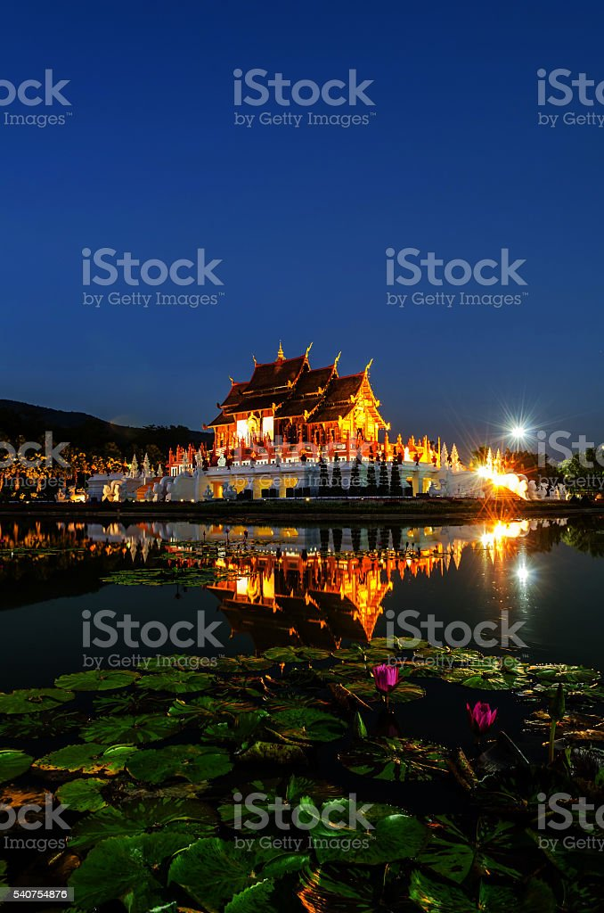 Ho Kham Luang Chiang Mai Royal Flora Ratchaphruek, Thailand and stock photo