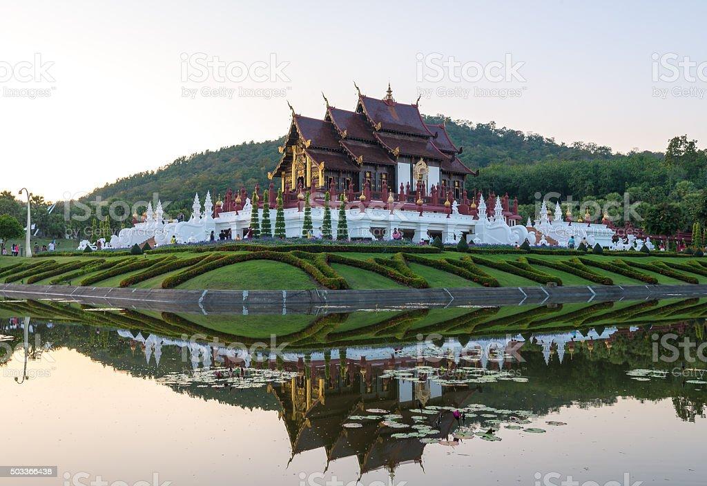 Ho kham luang, Royal Park Rajapruek, Chiangmai, Thailand stock photo