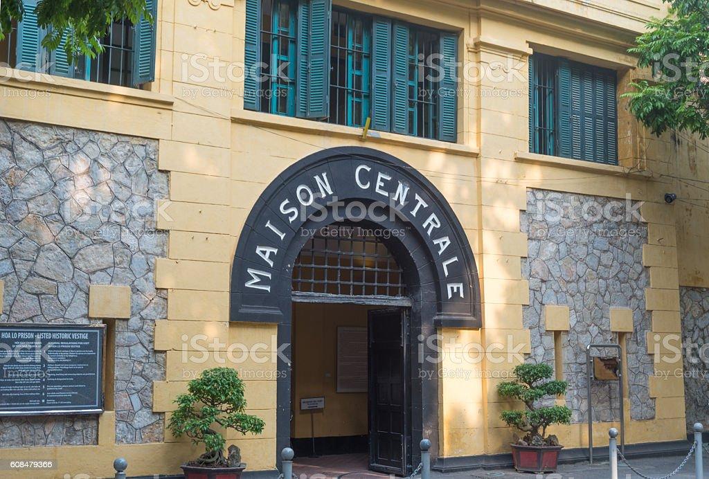Hoa Lo Prison stock photo