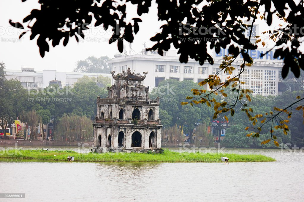 Hoan Kiem Lake, Ha Noi, Vietnam stock photo