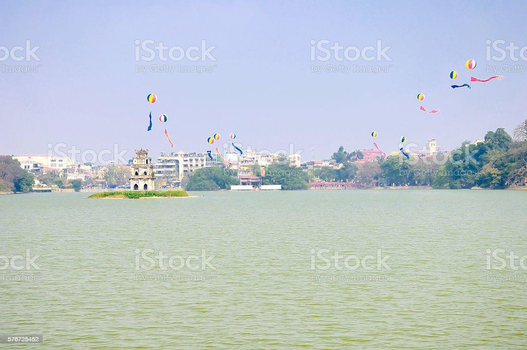 Hoan Kiem Lake, Hanoi, Vietnam stock photo