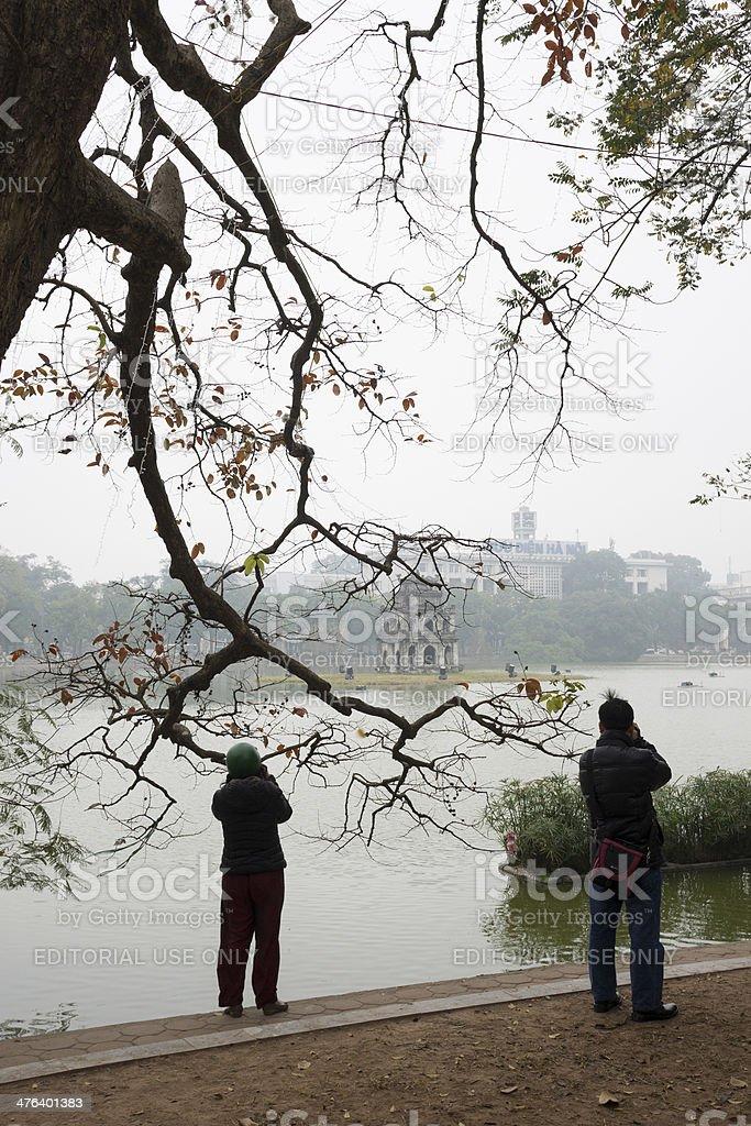 Hoan Kiem lake royalty-free stock photo