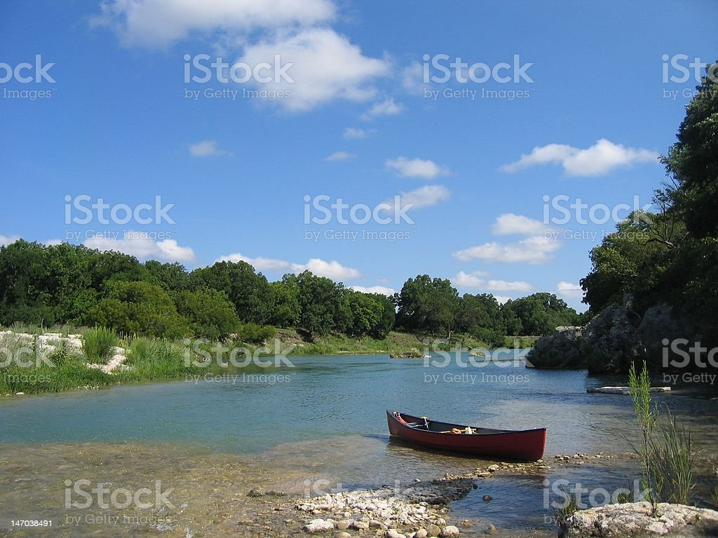 Cano? Guadalupe river royalty-free stock photo