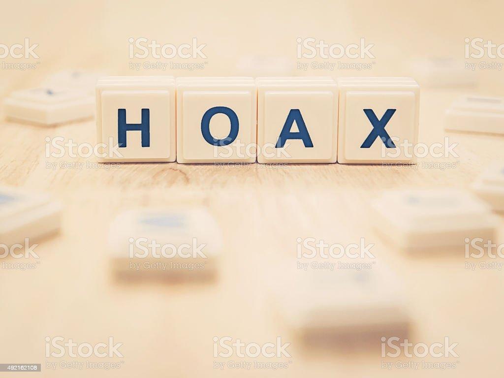 hoax stock photo