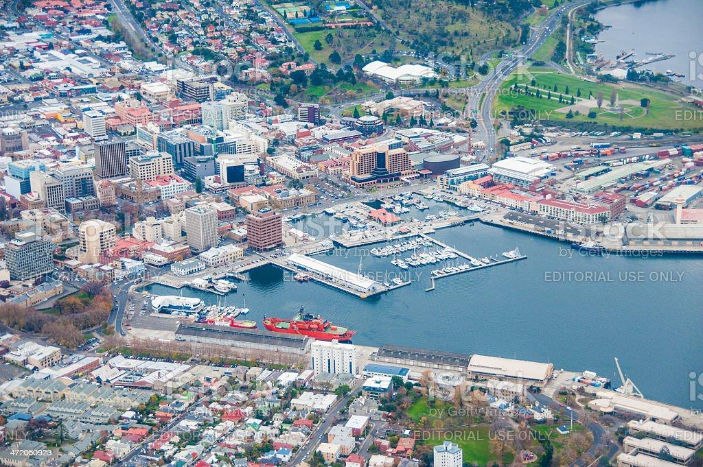 Hobart pela air foto royalty-free