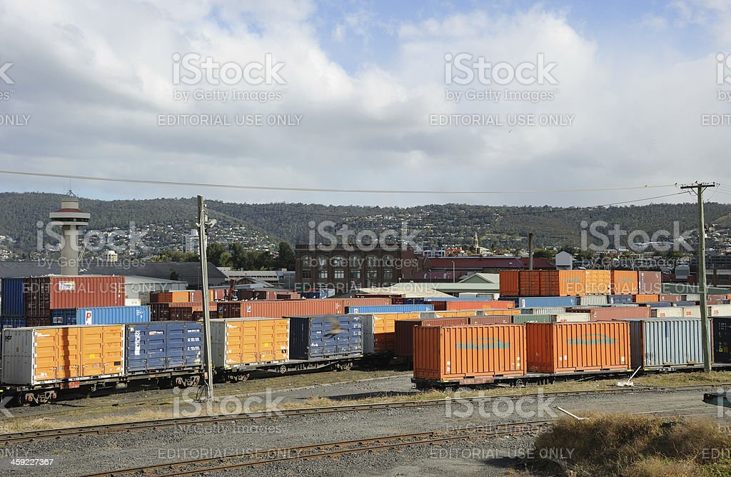 Hobart Container Terminal stock photo