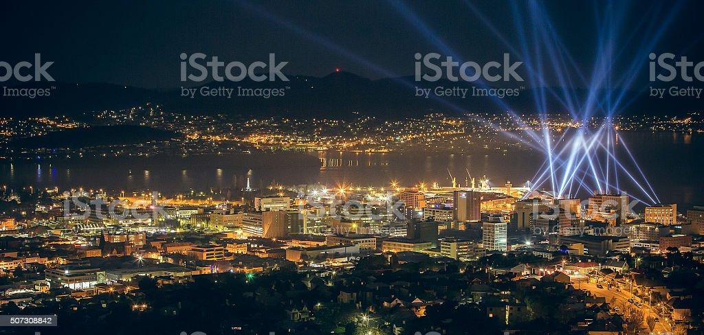 Hobart during Dark Mofo stock photo