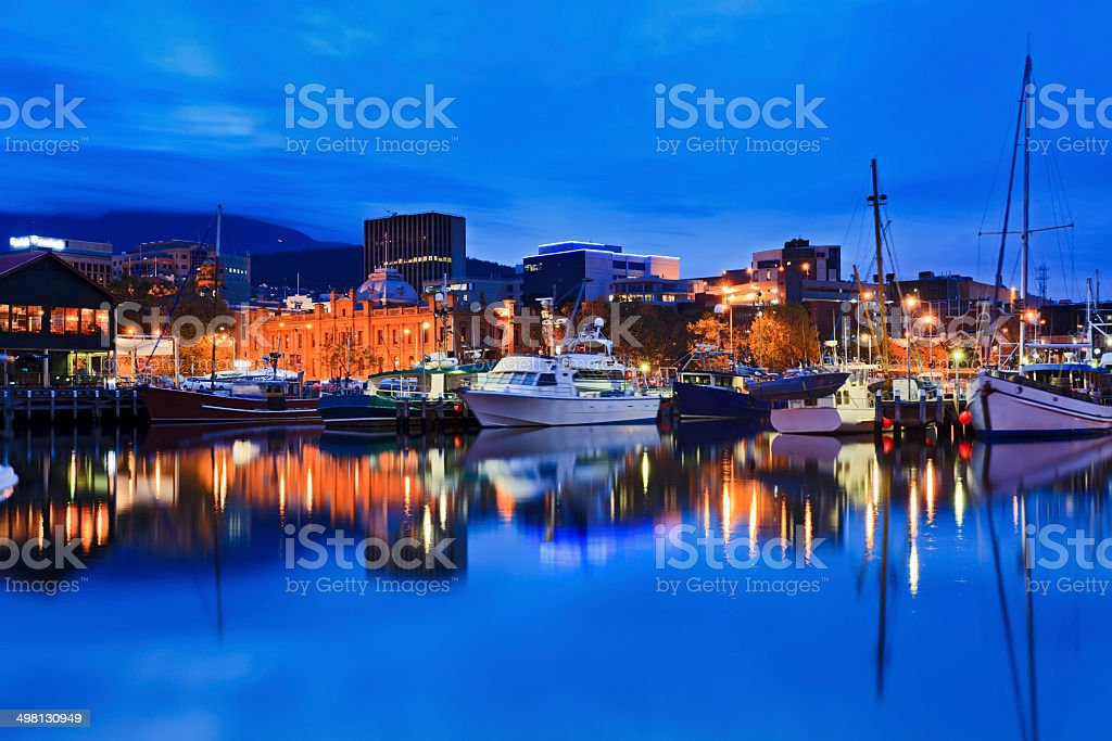 Hobart Harbour Yacht Gallery stock photo