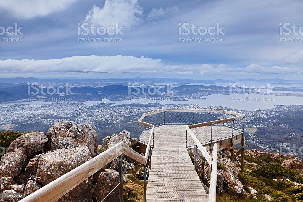 Hobart Mt Wellington Lookout stock photo