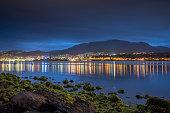 Hobart Tasmania City Reflections Night Australia