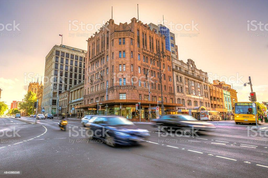 Hobart traffic stock photo