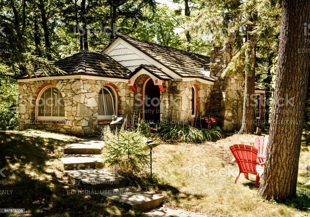 Hobbit home stock photo