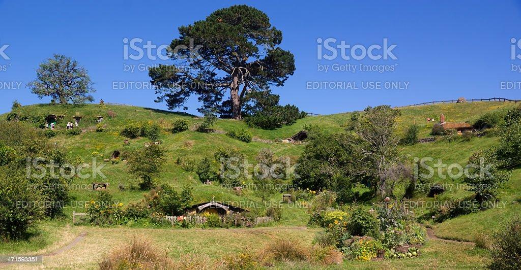 Hobbiton - The Shire stock photo