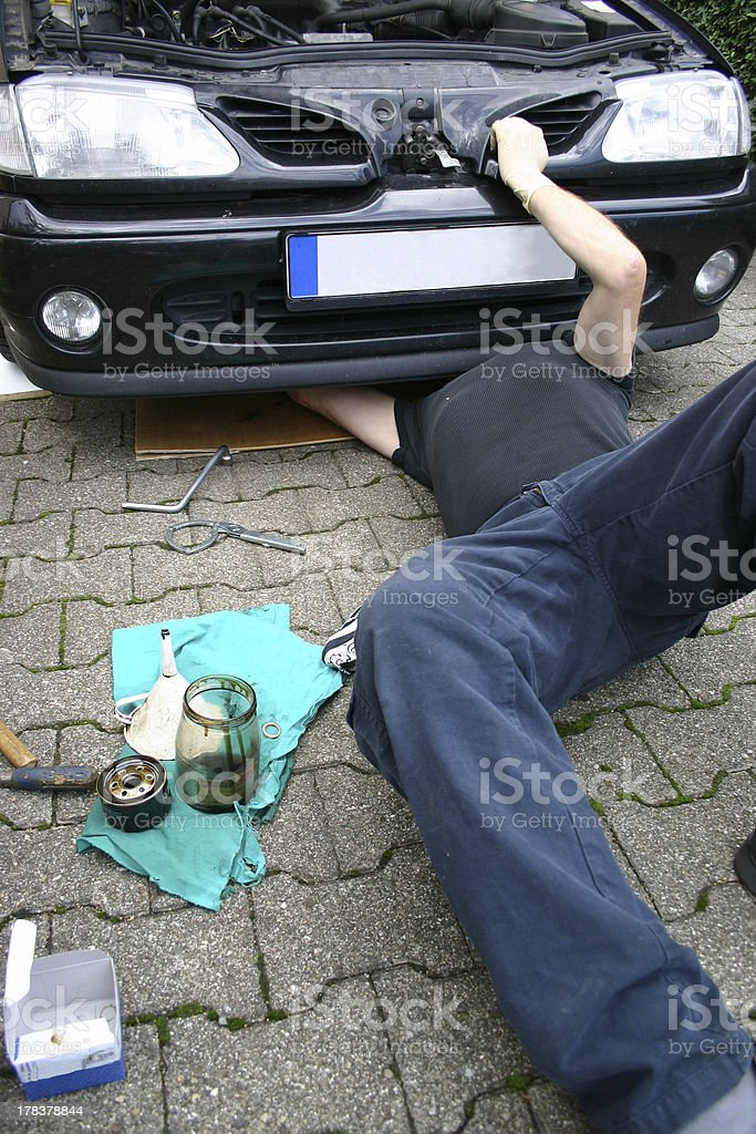 Hobby mechanic royalty-free stock photo