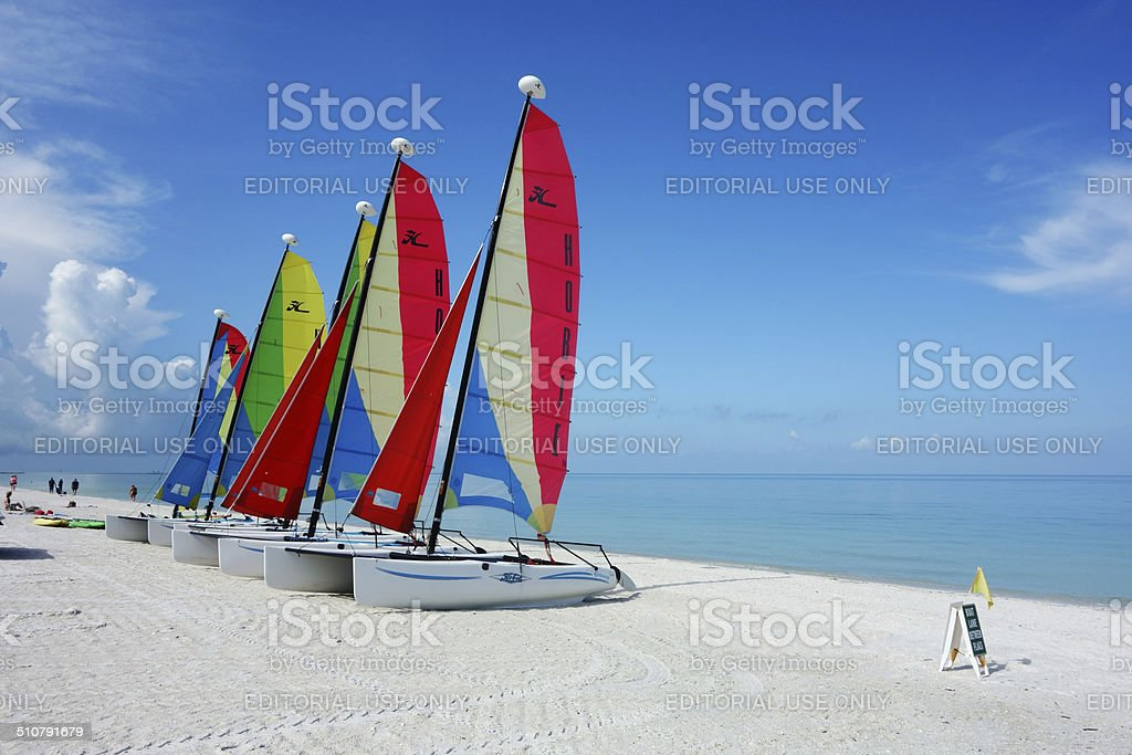Hobie Cat catamaran sailboats stock photo