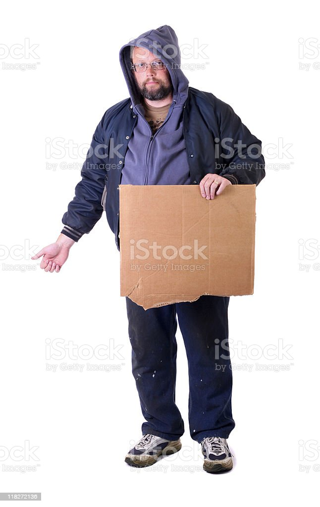 hobo hitchhiking royalty-free stock photo