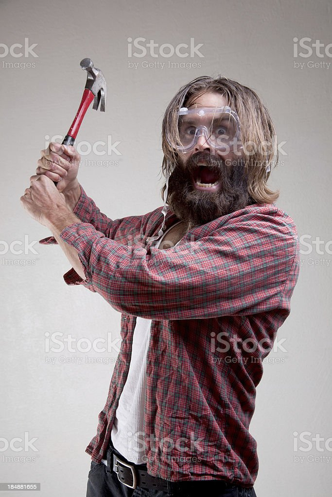 Hobo: Home Repair Time royalty-free stock photo