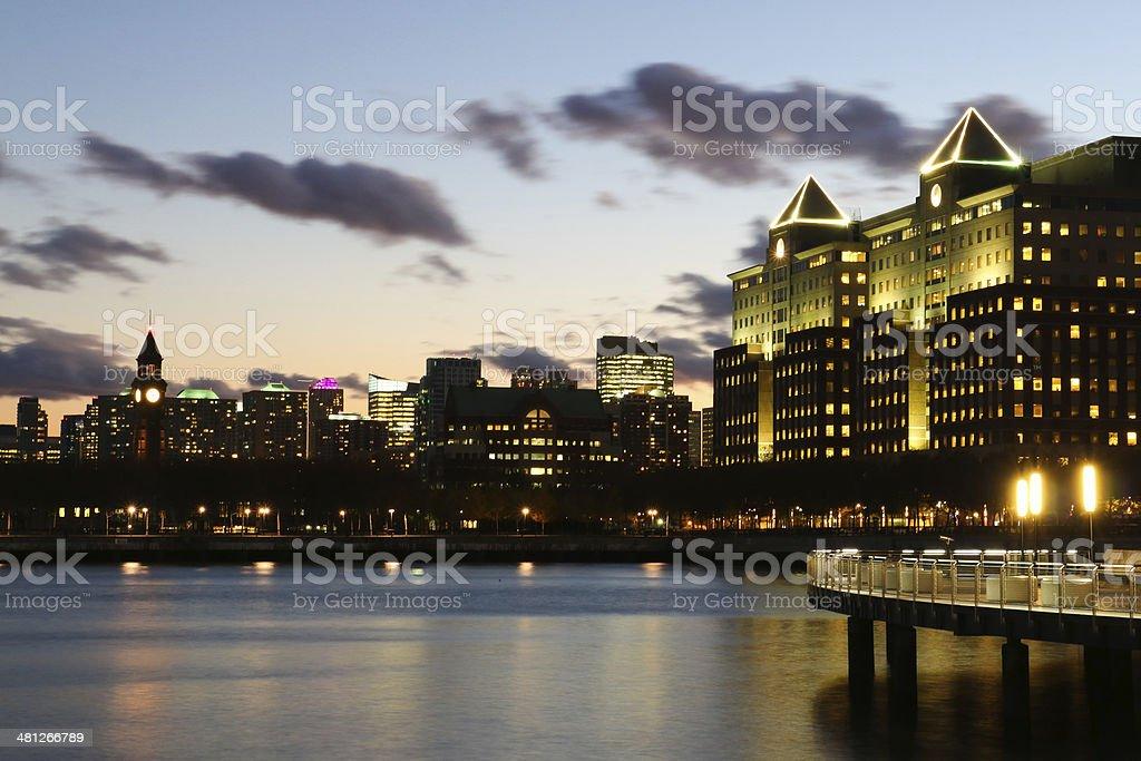 Hoboken after Sunset stock photo