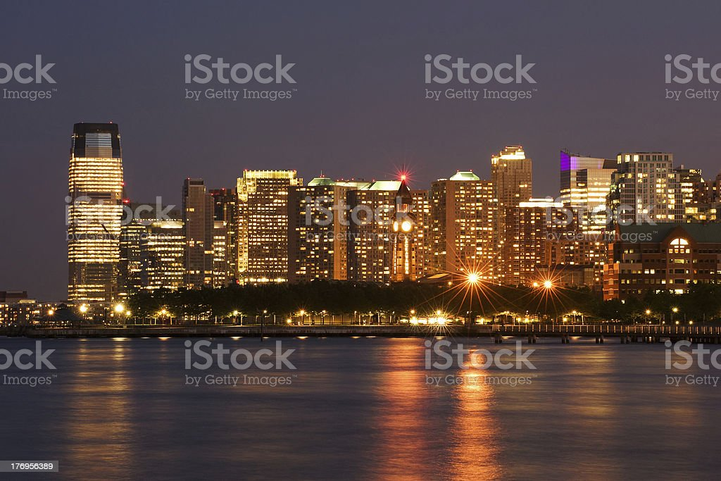 Hoboken and Jersey city stock photo