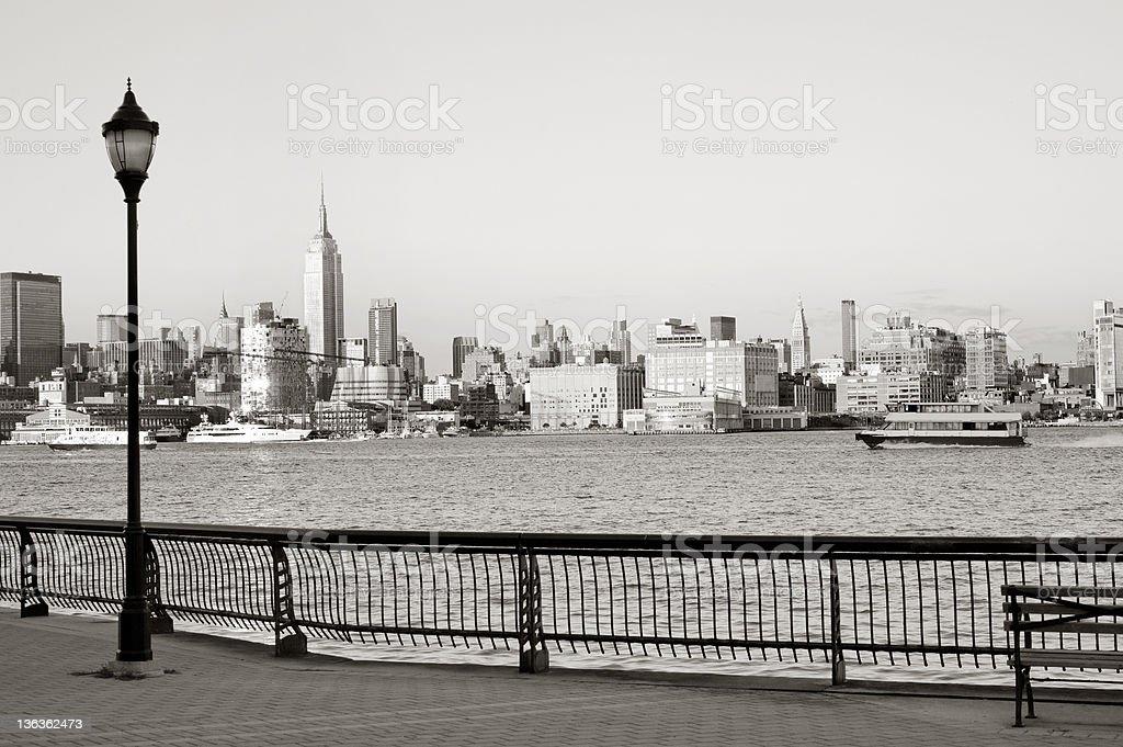 Hoboken boardwalk stock photo