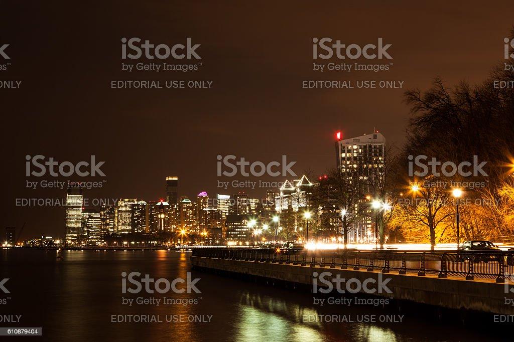 Hoboken Jersey City Skyline stock photo
