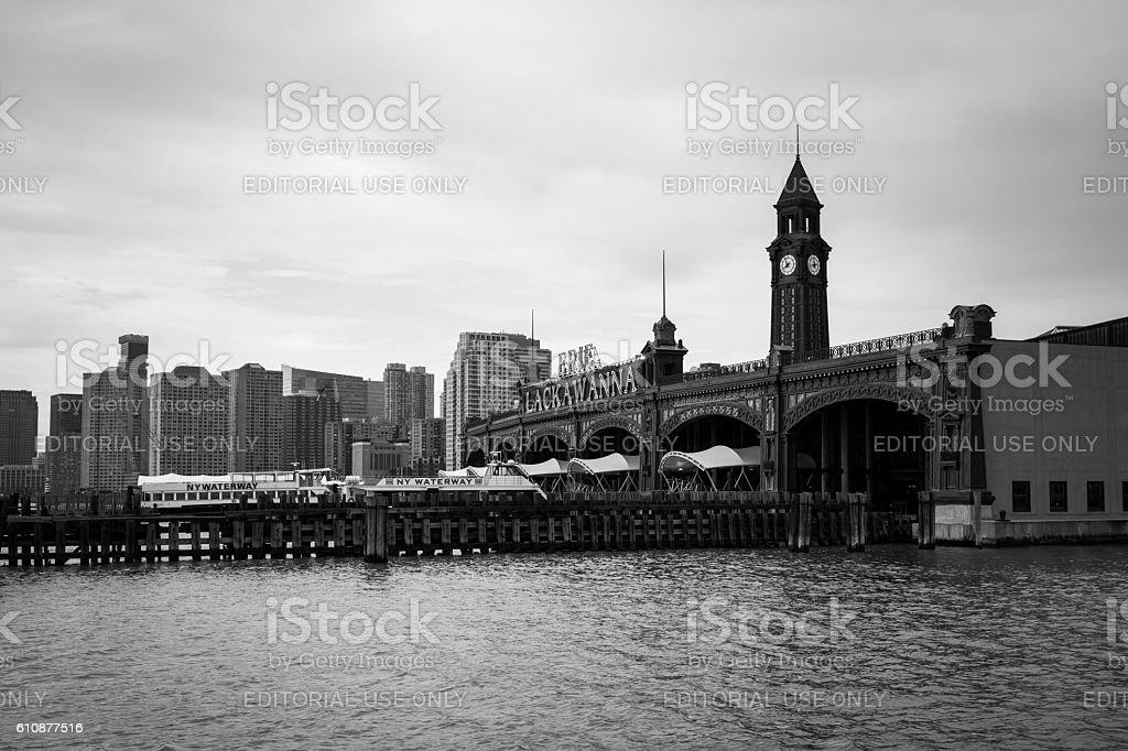 Hoboken Terminal Exterior stock photo