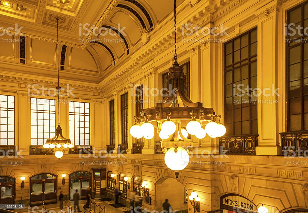 Hoboken Terminal Hall stock photo