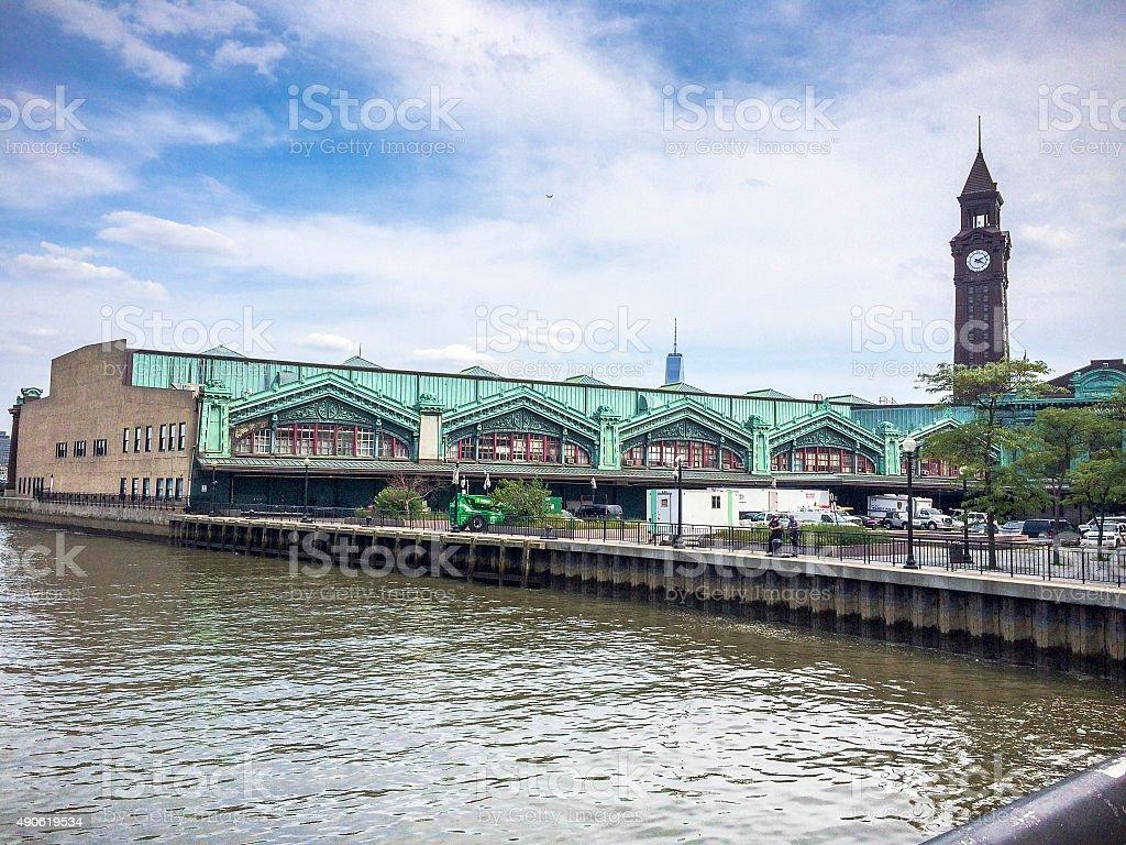 Hoboken Train Terminal stock photo