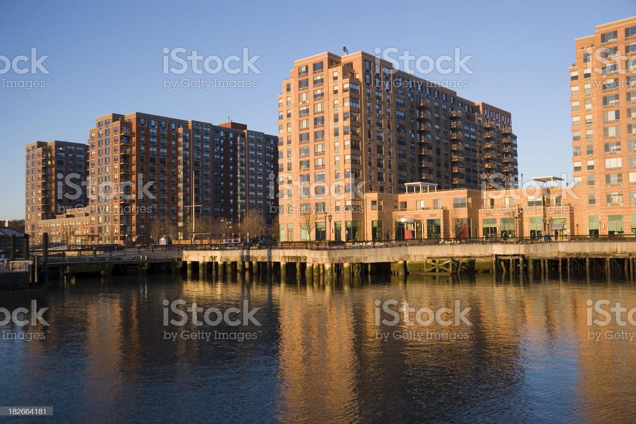 Hoboken Waterfront royalty-free stock photo