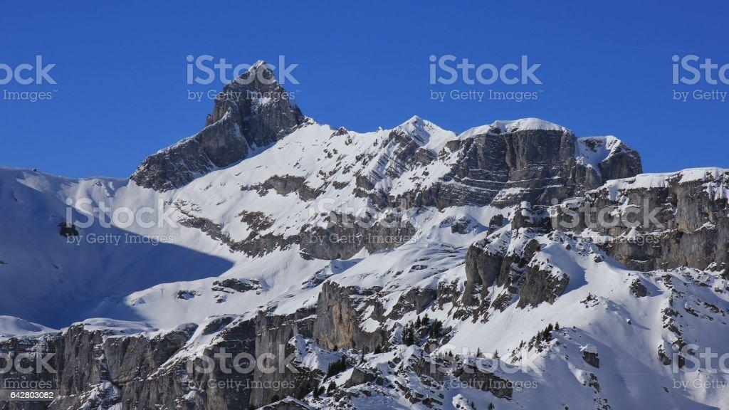 Hoch Turm, mountain peak in Braunwald stock photo