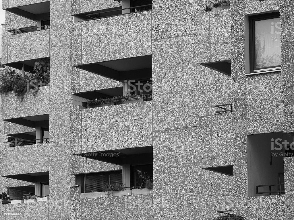 Hochhausfassade stock photo