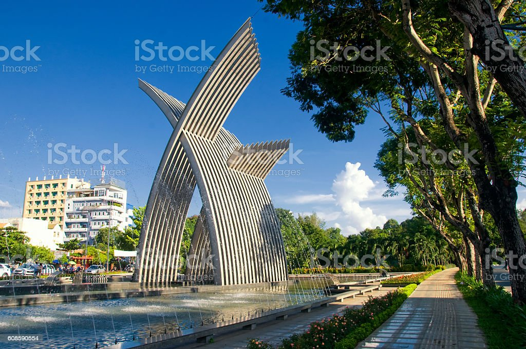 Hochiminh city Welcome gate near Tan Son Nhat airport, Vietnam stock photo