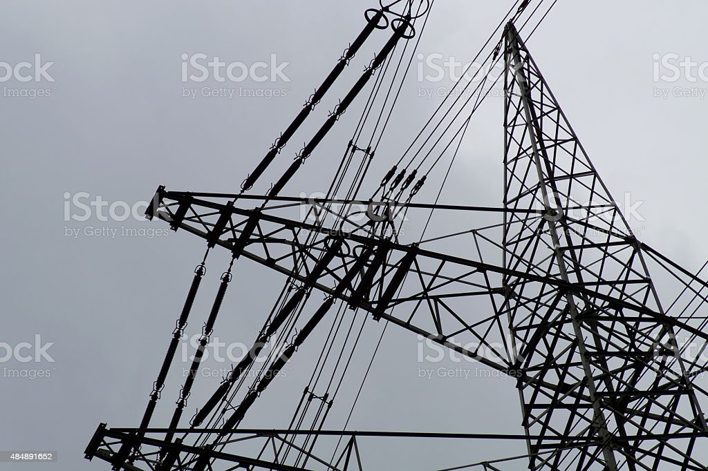 Hochspannungsmast stock photo