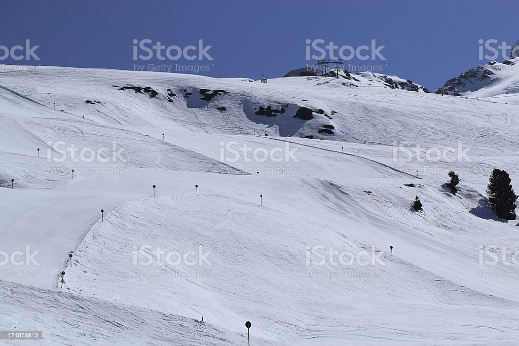 Hochzeiger ski resort stock photo