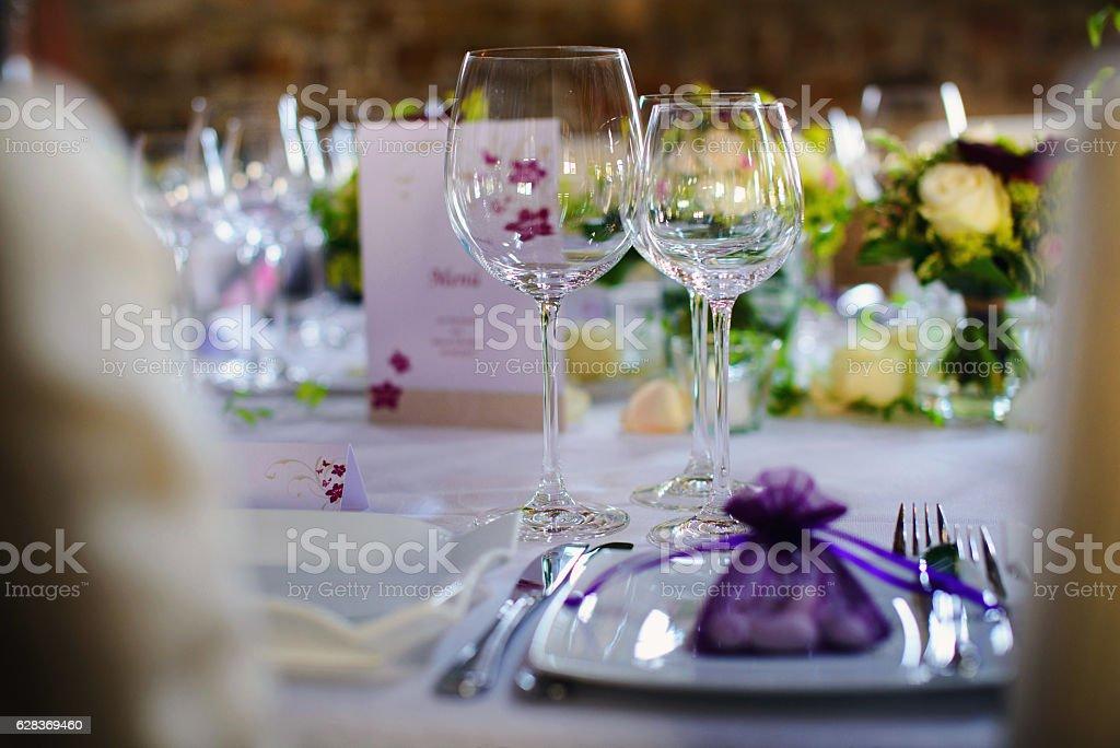 Hochzeitstisch stock photo