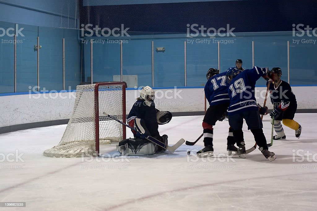 Hockey Action royalty-free stock photo
