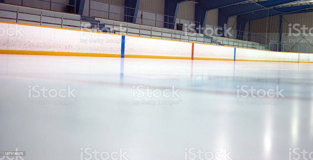 Hockey Arena at Ice Level stock photo