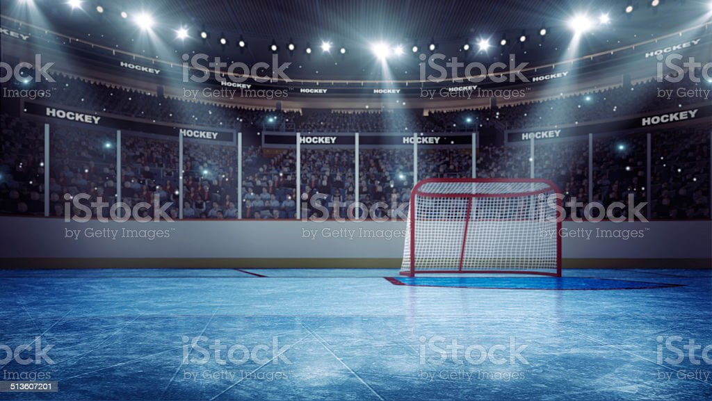 Hockey  arena stock photo