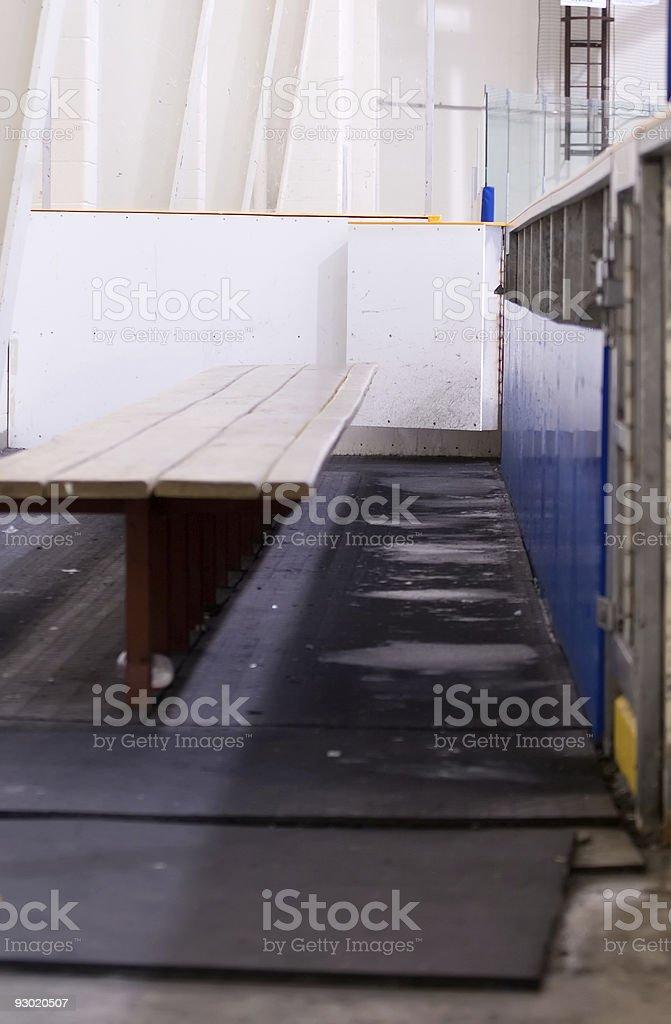 Hockey Bench royalty-free stock photo