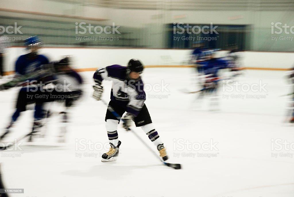 Hockey Breakaway royalty-free stock photo