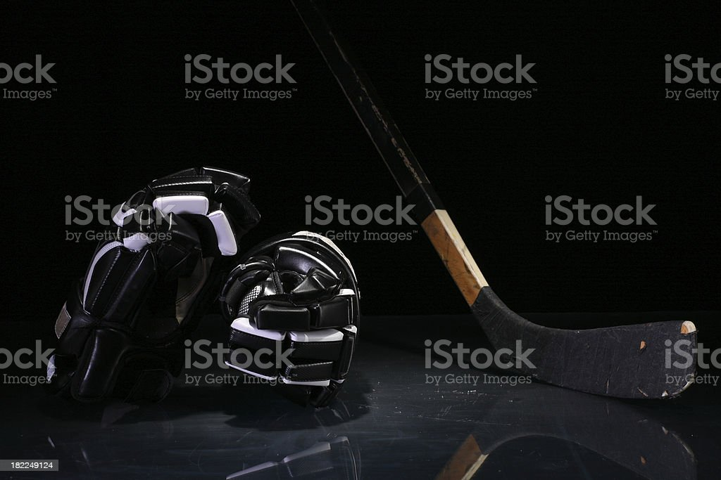 Hockey equipment royalty-free stock photo