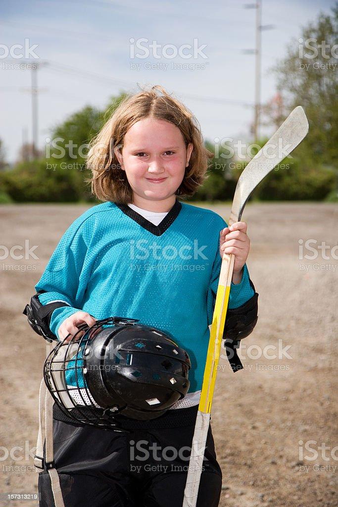 Hockey Girl - Kid Sports stock photo
